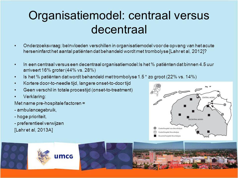 Organisatiemodel: centraal versus decentraal