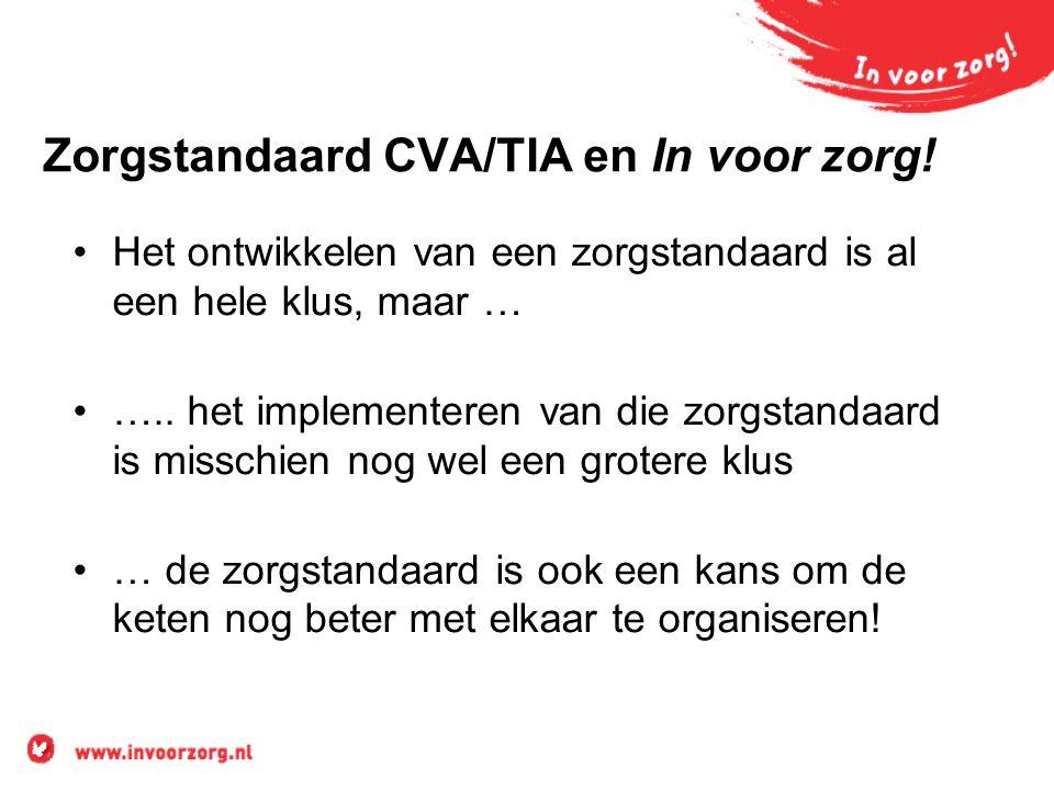 Zorgstandaard CVA/TIA en In voor zorg!