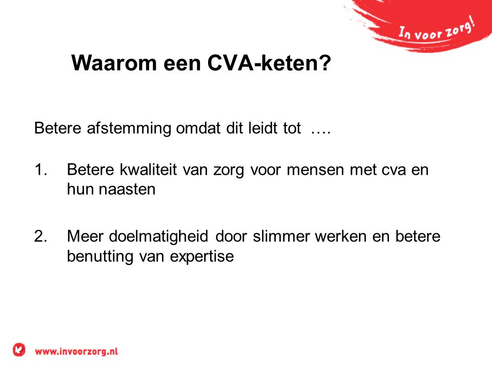 Waarom een CVA-keten Betere afstemming omdat dit leidt tot ….