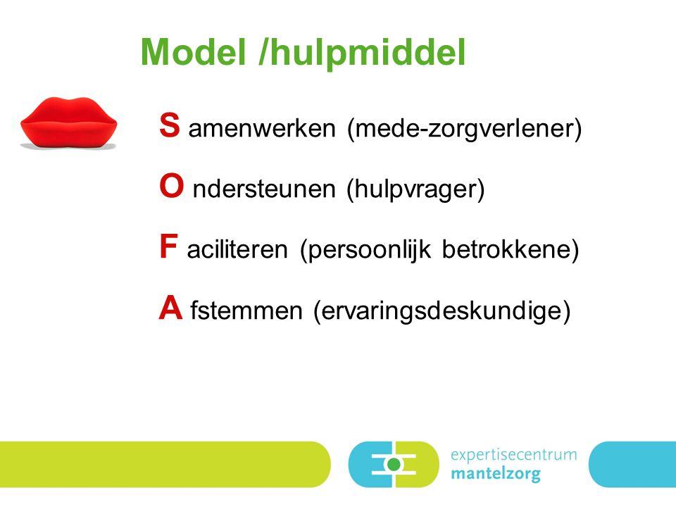 Model /hulpmiddel S amenwerken (mede-zorgverlener)