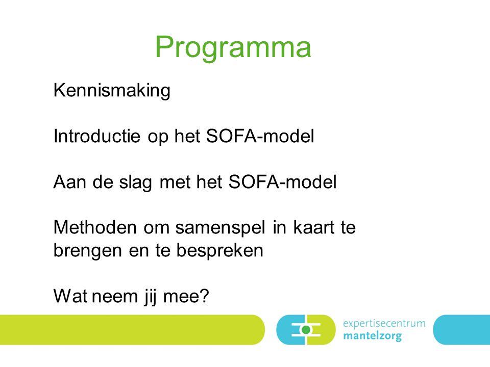 Programma Kennismaking Introductie op het SOFA-model