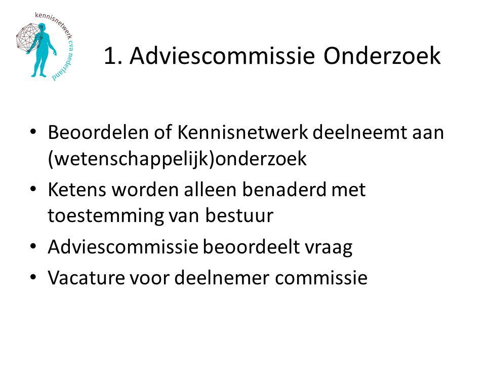 1. Adviescommissie Onderzoek