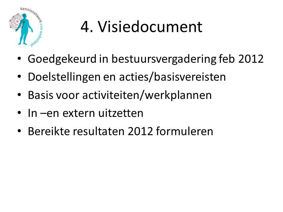 4. Visiedocument Goedgekeurd in bestuursvergadering feb 2012
