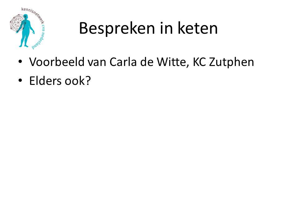 Bespreken in keten Voorbeeld van Carla de Witte, KC Zutphen
