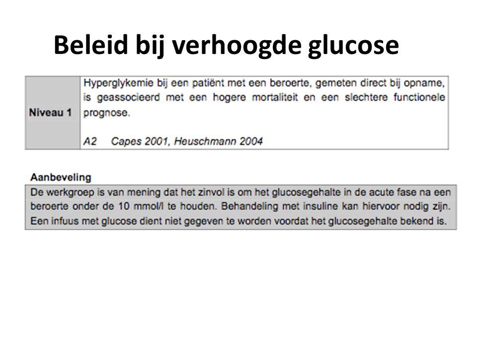 Beleid bij verhoogde glucose