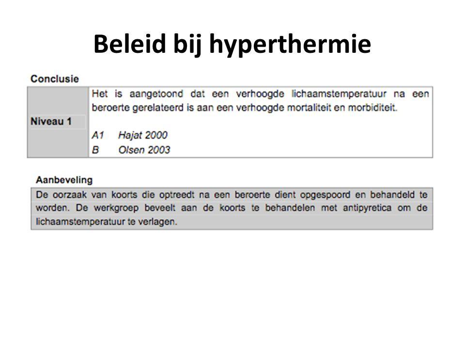 Beleid bij hyperthermie