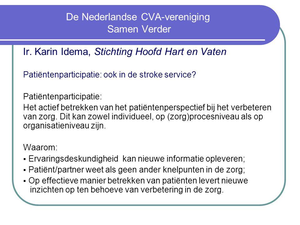De Nederlandse CVA-vereniging Samen Verder