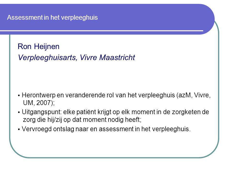 Assessment in het verpleeghuis