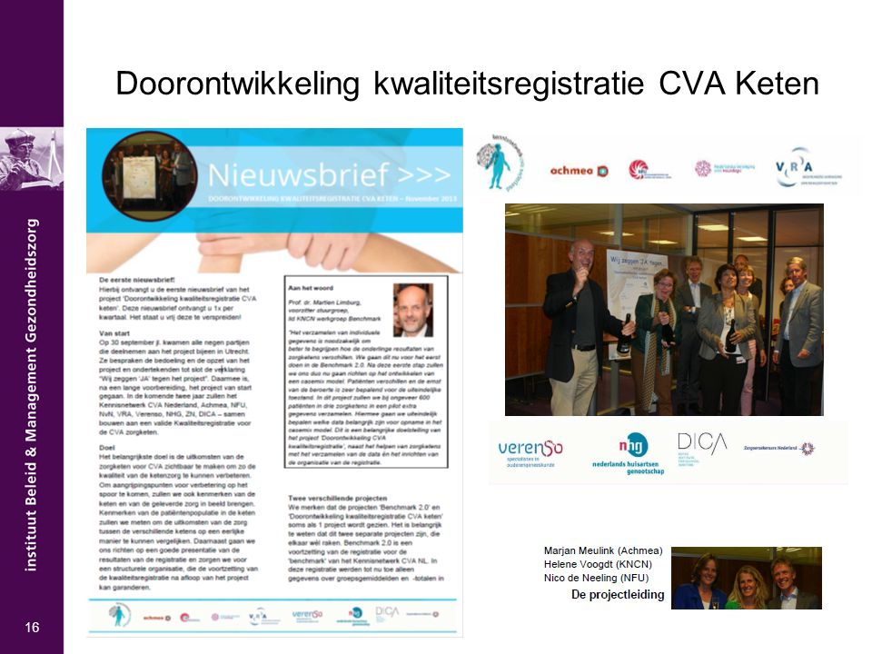 Doorontwikkeling kwaliteitsregistratie CVA Keten