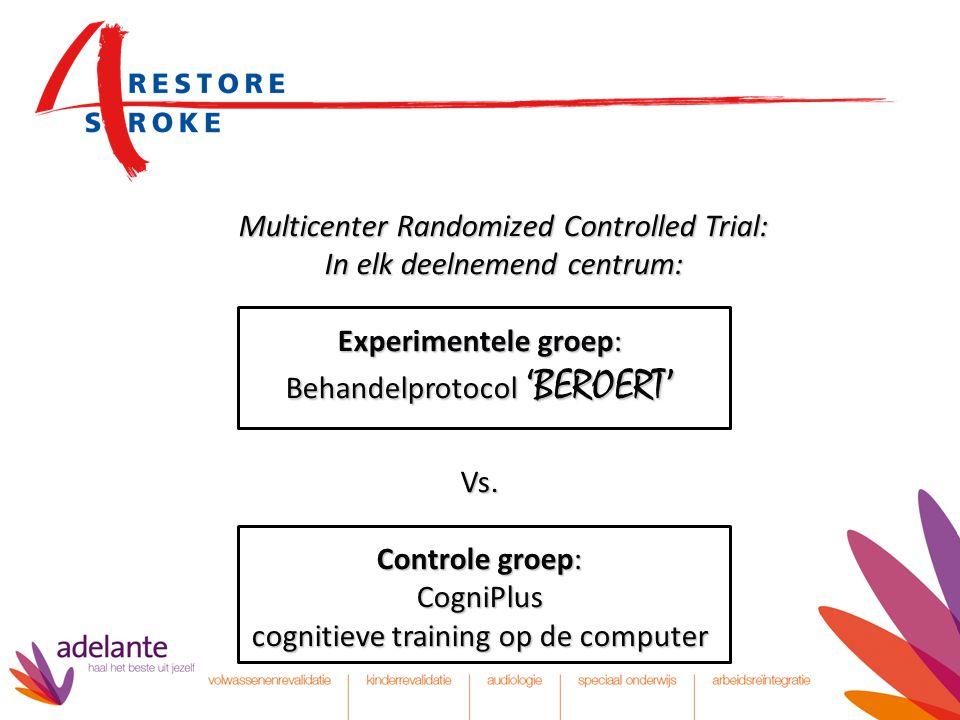 Multicenter Randomized Controlled Trial: In elk deelnemend centrum: