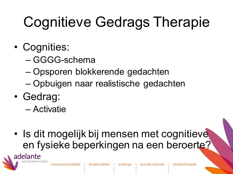 Cognitieve Gedrags Therapie