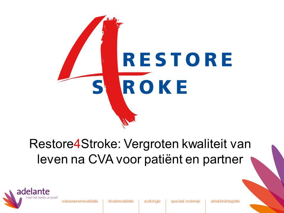 Restore4Stroke: Vergroten kwaliteit van leven na CVA voor patiënt en partner