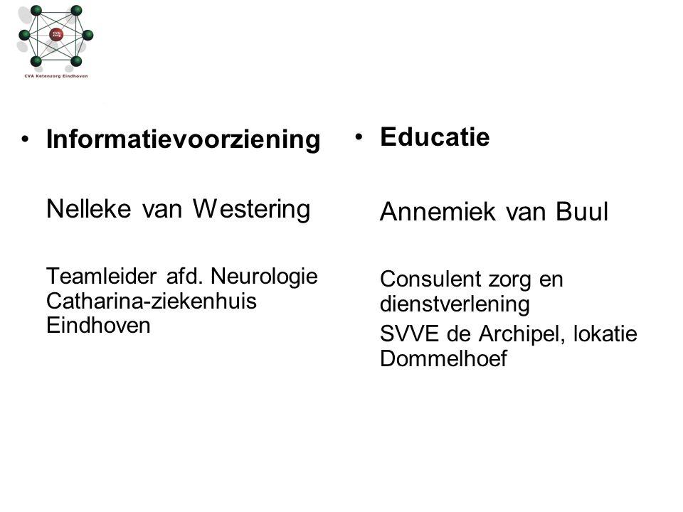 Informatievoorziening Nelleke van Westering Educatie Annemiek van Buul