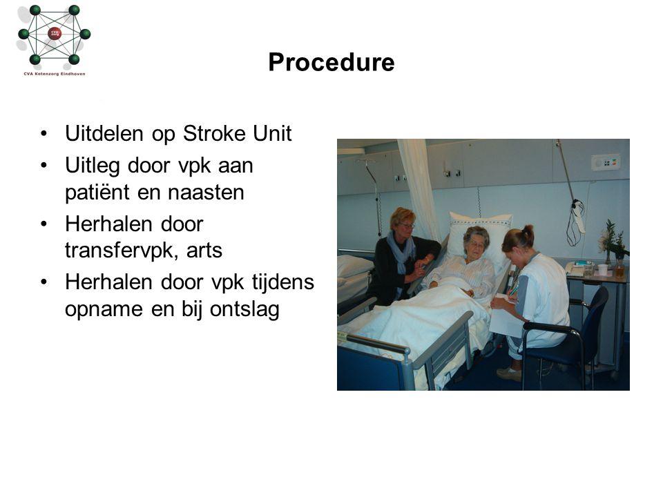 Procedure Uitdelen op Stroke Unit