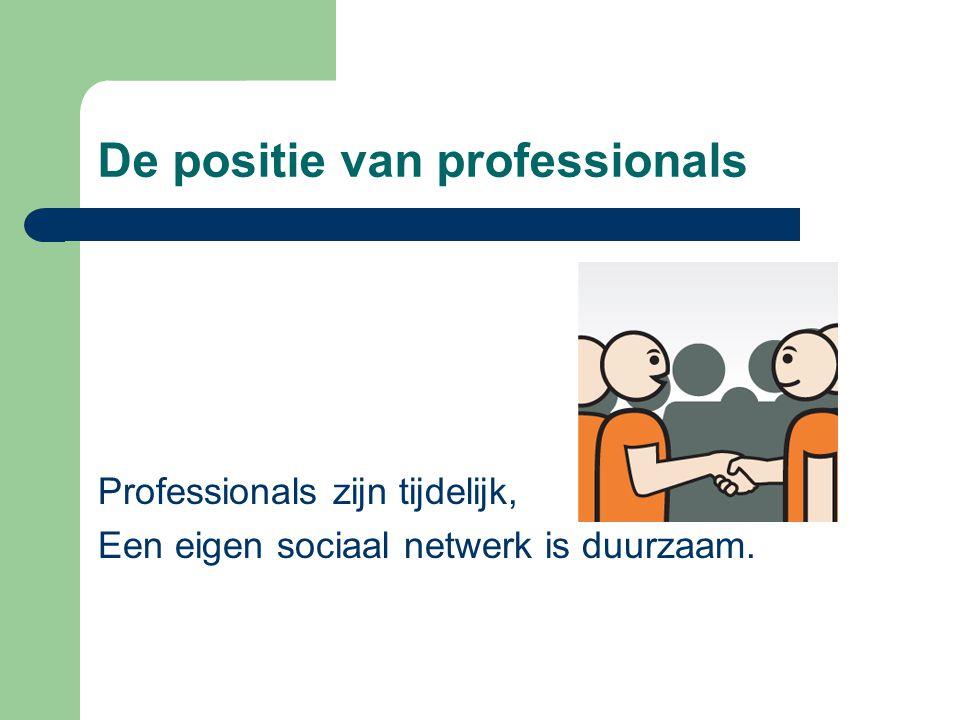 De positie van professionals