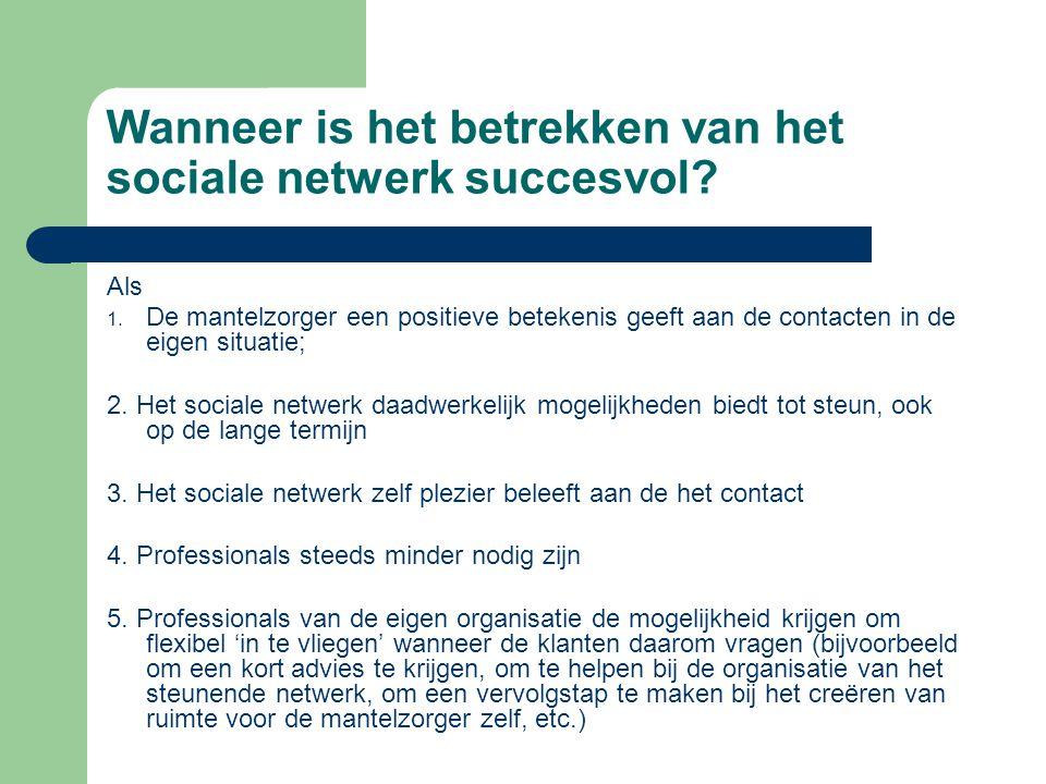 Wanneer is het betrekken van het sociale netwerk succesvol