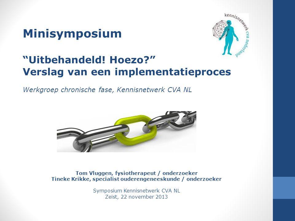 Symposium Kennisnetwerk CVA NL