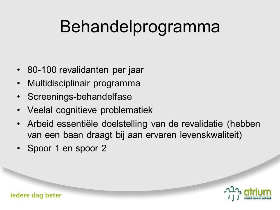 Behandelprogramma 80-100 revalidanten per jaar