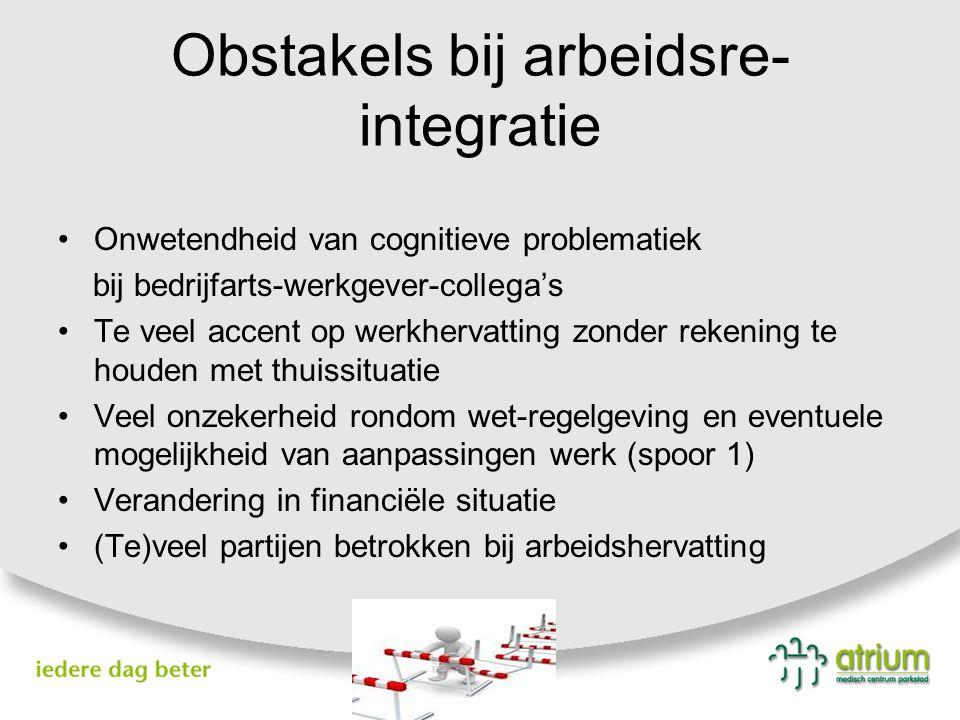 Obstakels bij arbeidsre-integratie