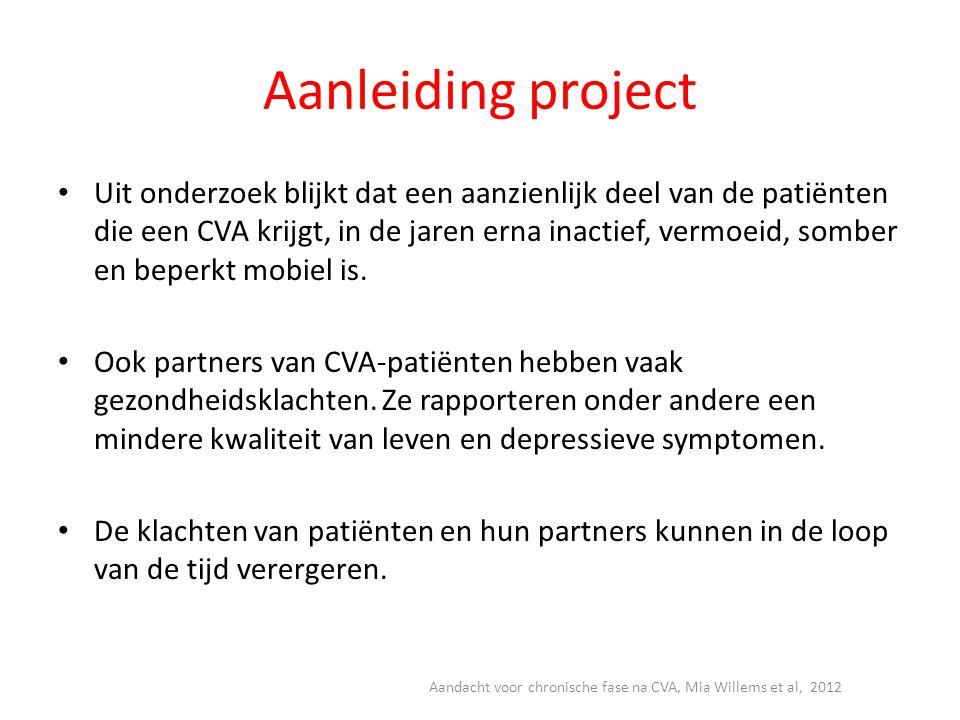 Aandacht voor chronische fase na CVA, Mia Willems et al, 2012