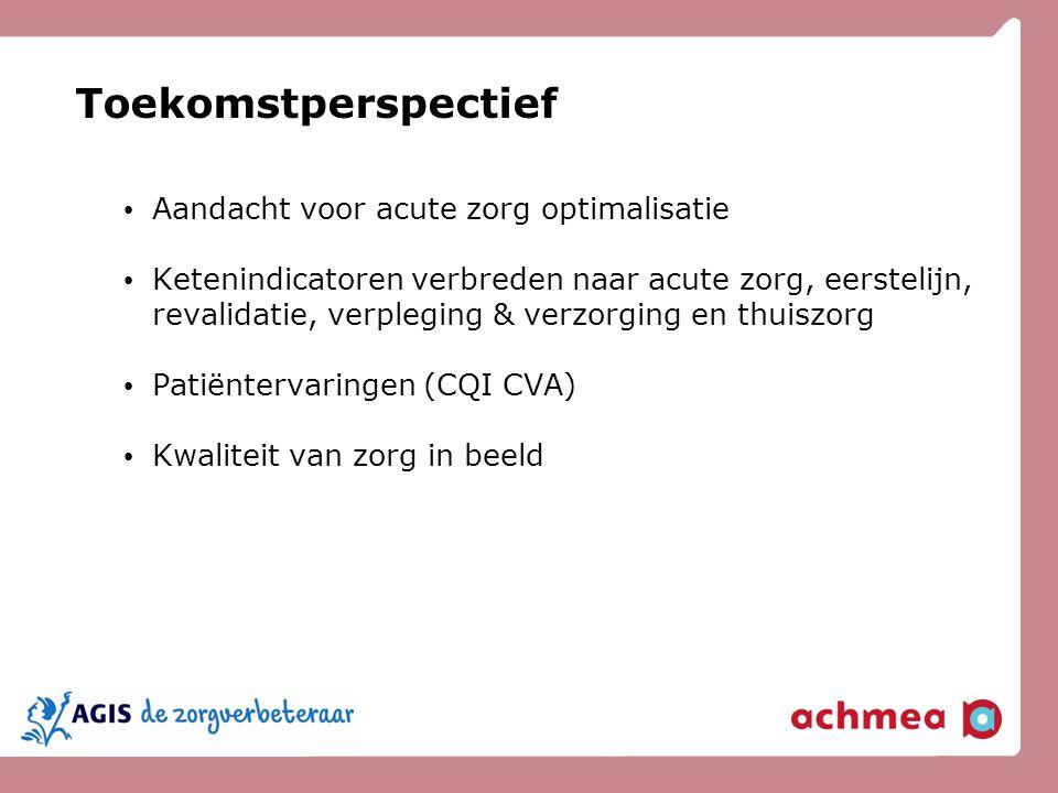 Toekomstperspectief Aandacht voor acute zorg optimalisatie