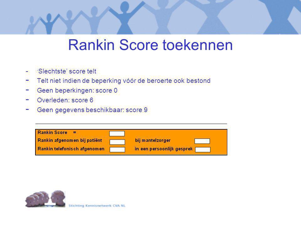 Rankin Score toekennen