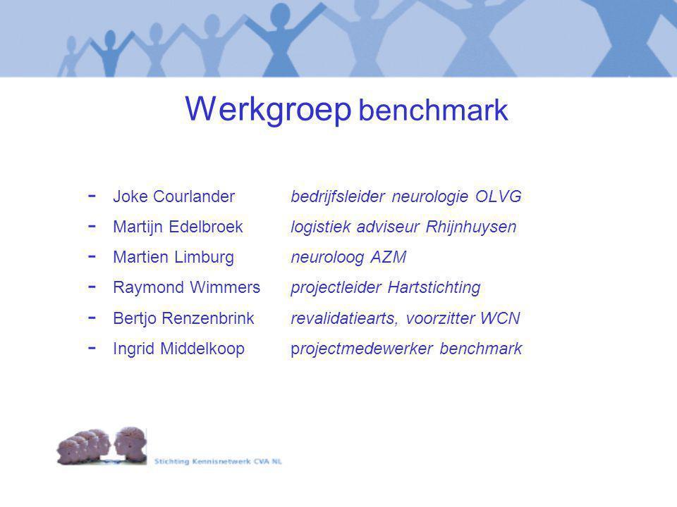Werkgroep benchmark Joke Courlander bedrijfsleider neurologie OLVG