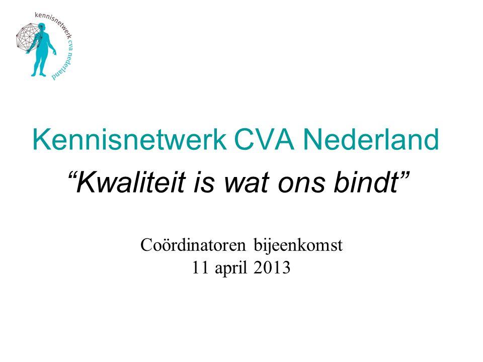 Coördinatoren bijeenkomst 11 april 2013