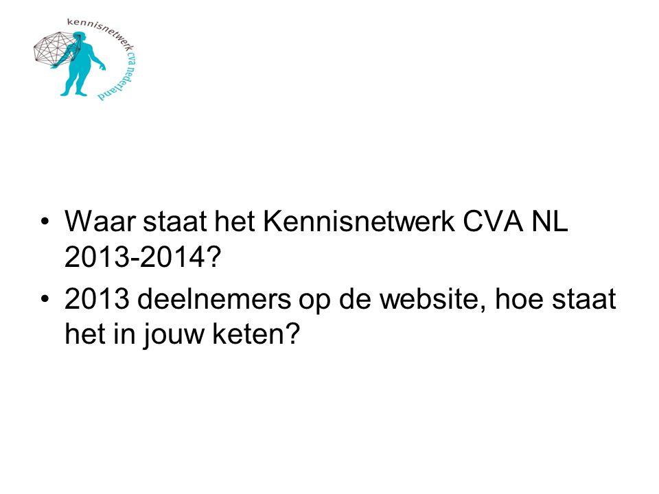 Waar staat het Kennisnetwerk CVA NL 2013-2014