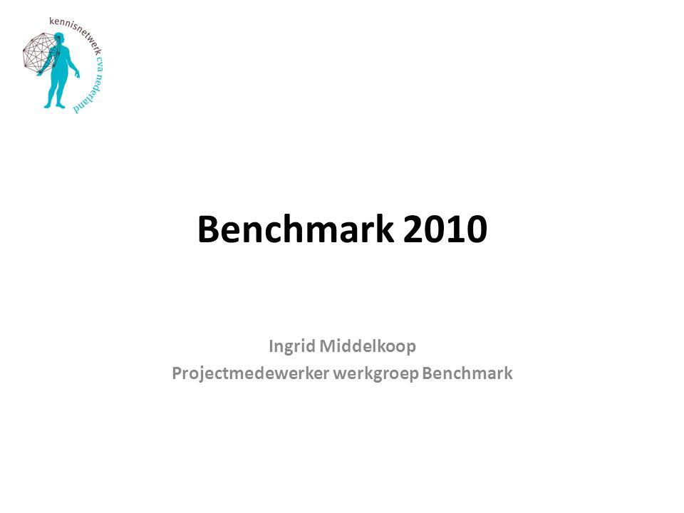 Ingrid Middelkoop Projectmedewerker werkgroep Benchmark