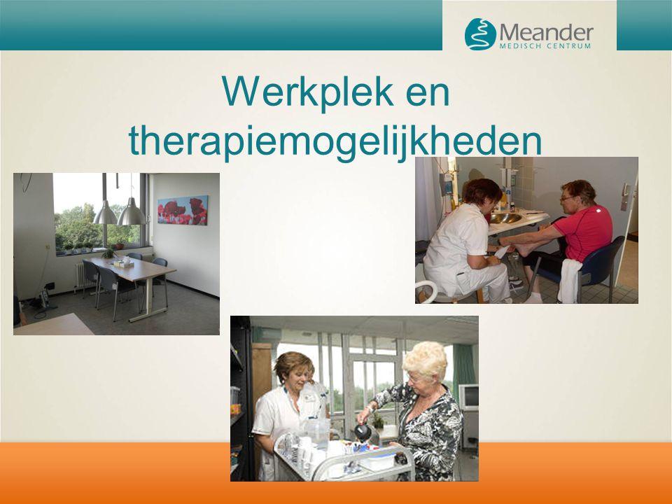 Werkplek en therapiemogelijkheden