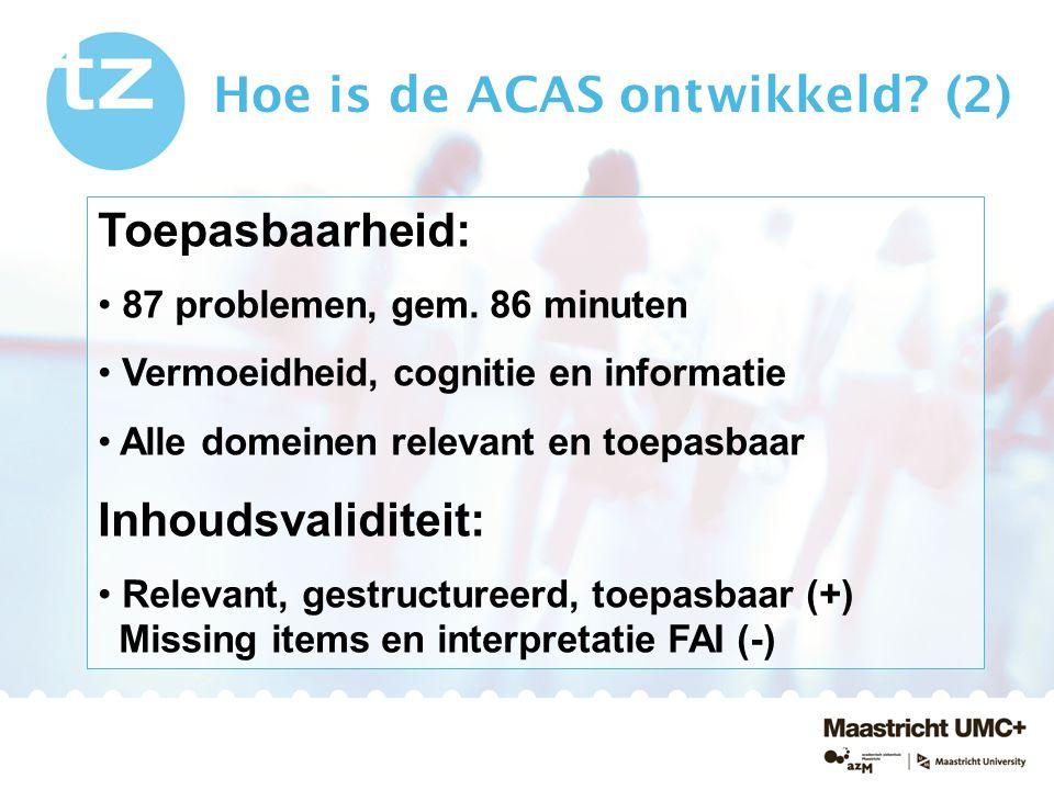 Hoe is de ACAS ontwikkeld (2)