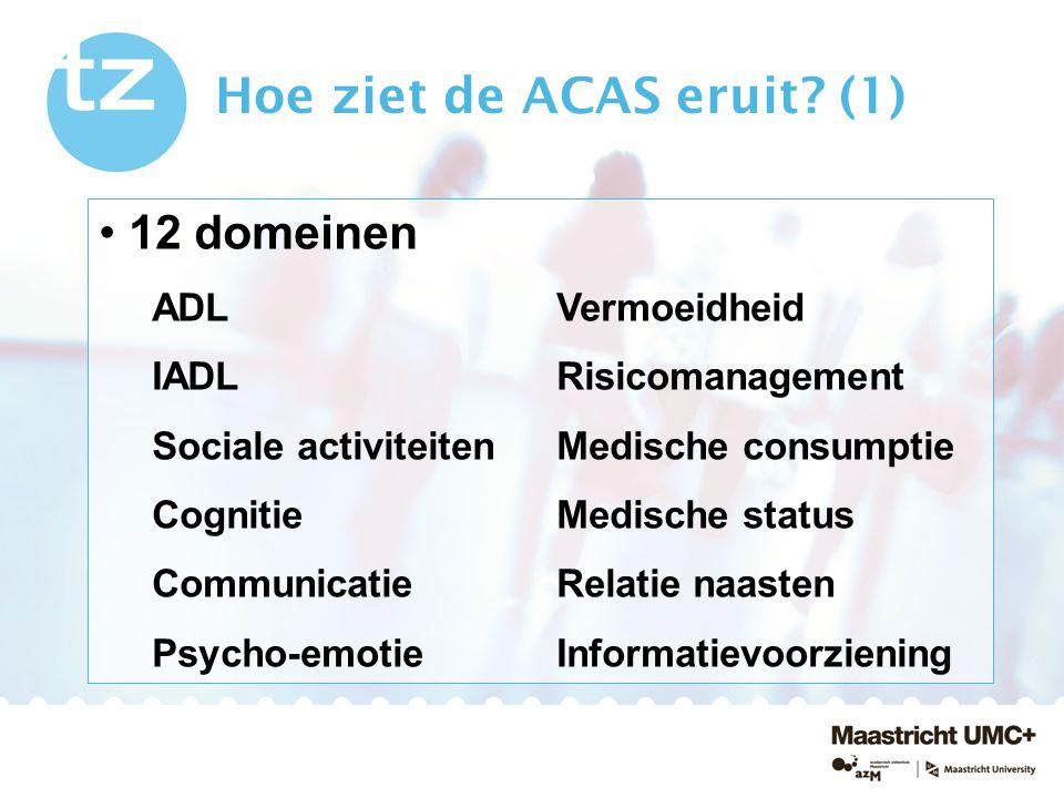 Hoe ziet de ACAS eruit (1)