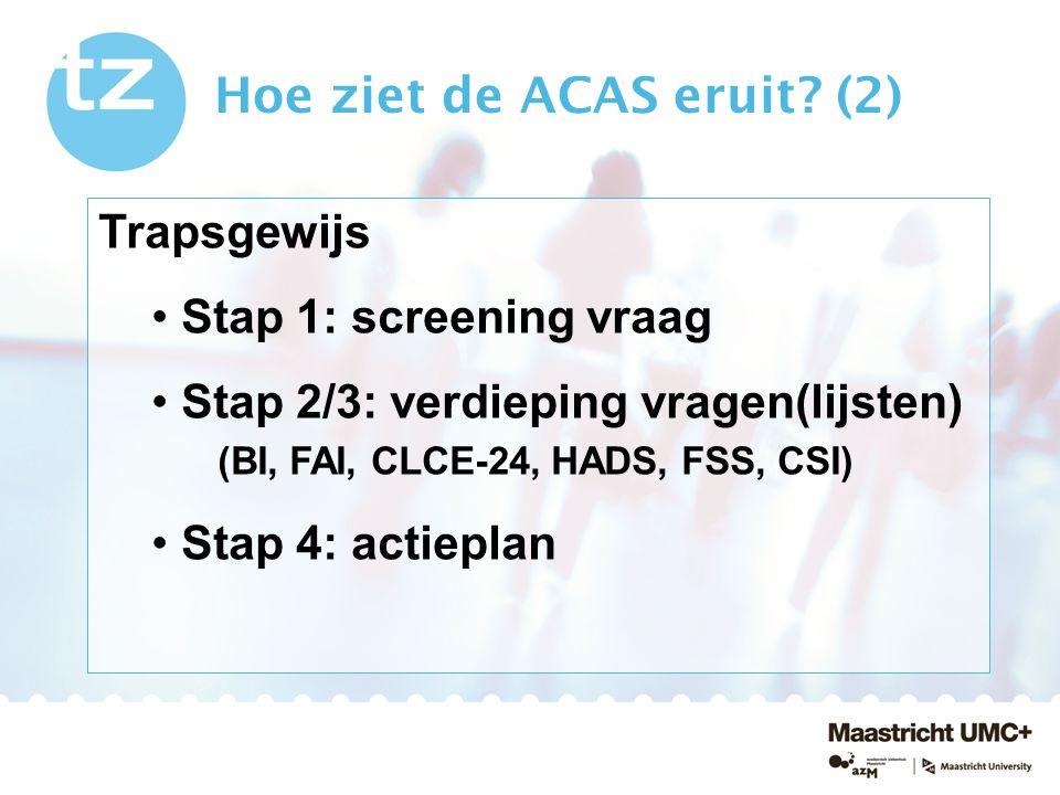 Hoe ziet de ACAS eruit (2)
