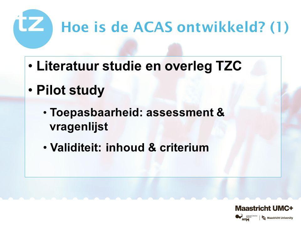 Hoe is de ACAS ontwikkeld (1)