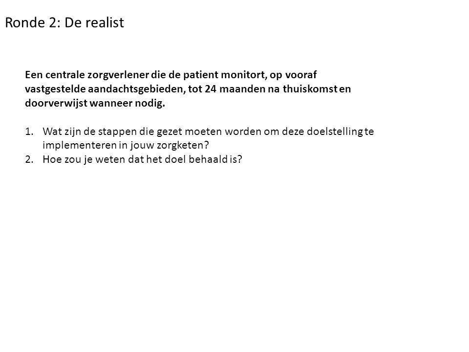 Ronde 2: De realist