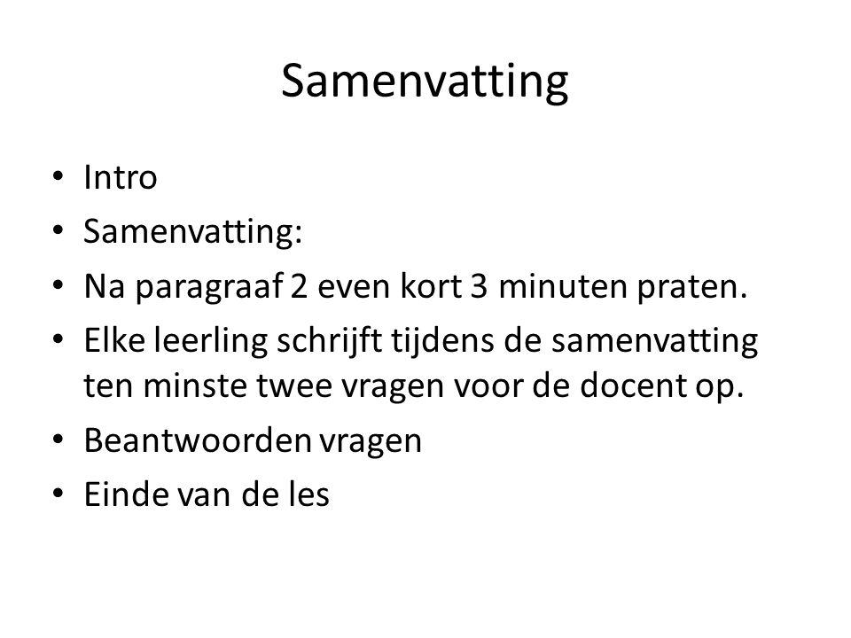 Samenvatting Intro Samenvatting: