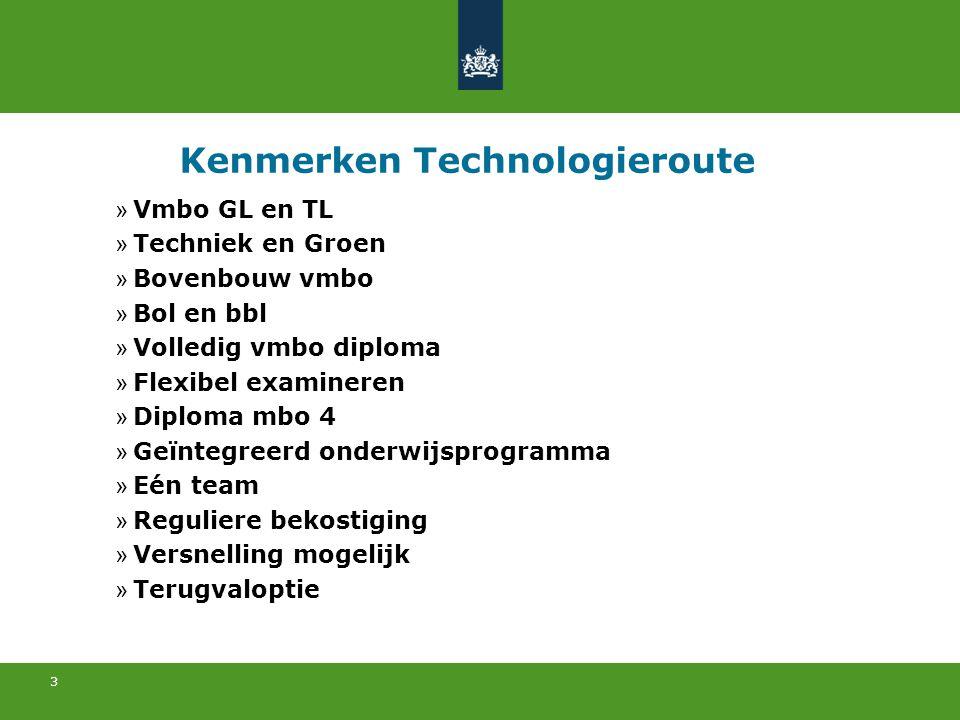 Kenmerken Technologieroute