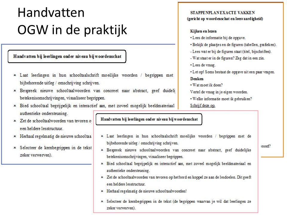 Handvatten OGW in de praktijk