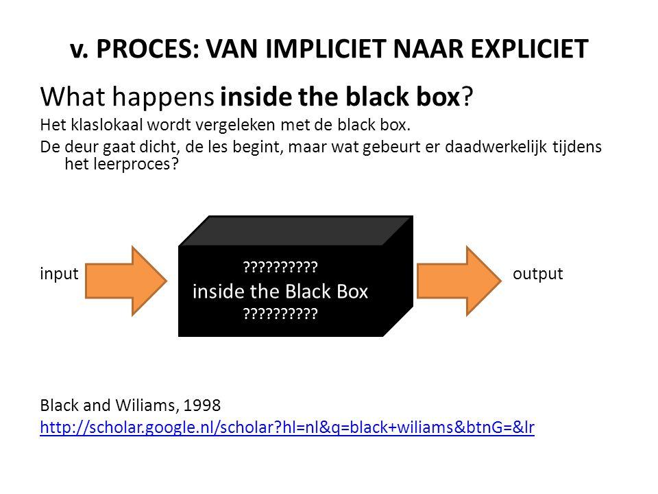 v. PROCES: VAN IMPLICIET NAAR EXPLICIET