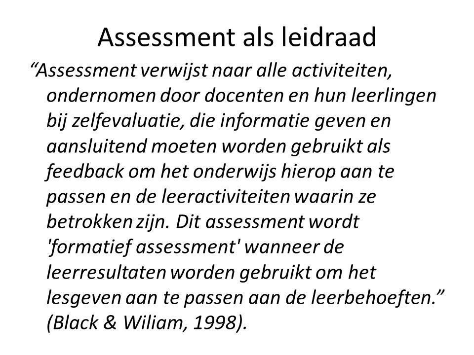 Assessment als leidraad