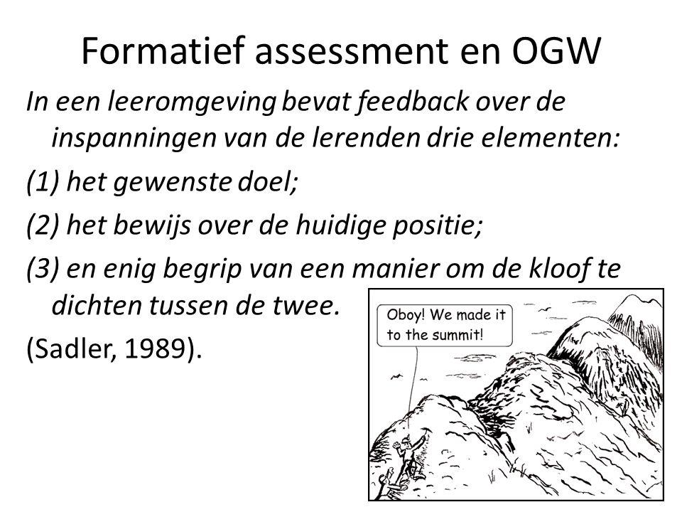 Formatief assessment en OGW
