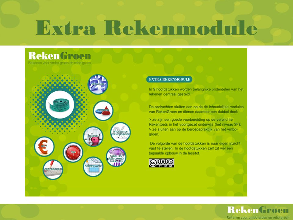 Extra Rekenmodule