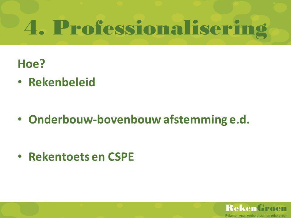 4. Professionalisering Hoe Rekenbeleid
