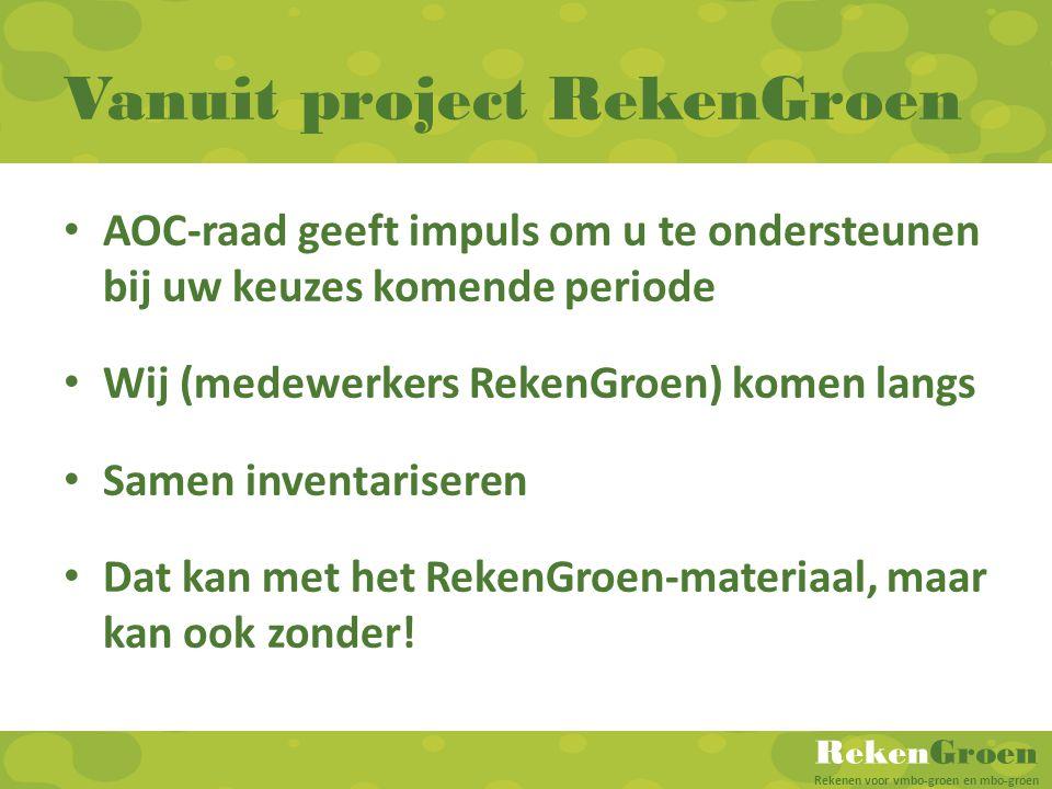 Vanuit project RekenGroen