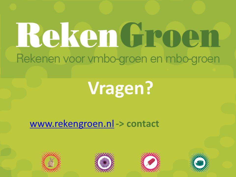 Vragen www.rekengroen.nl -> contact