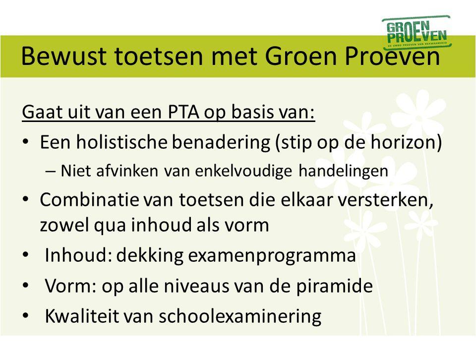 Bewust toetsen met Groen Proeven