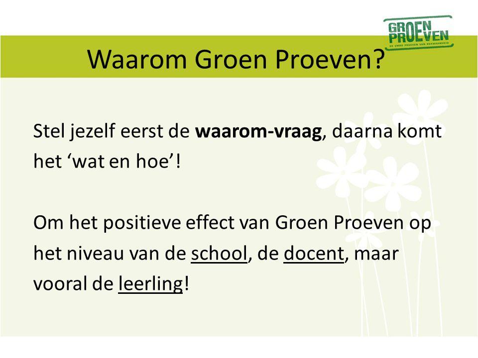 Waarom Groen Proeven
