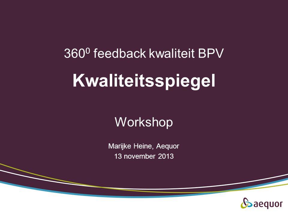 3600 feedback kwaliteit BPV Kwaliteitsspiegel