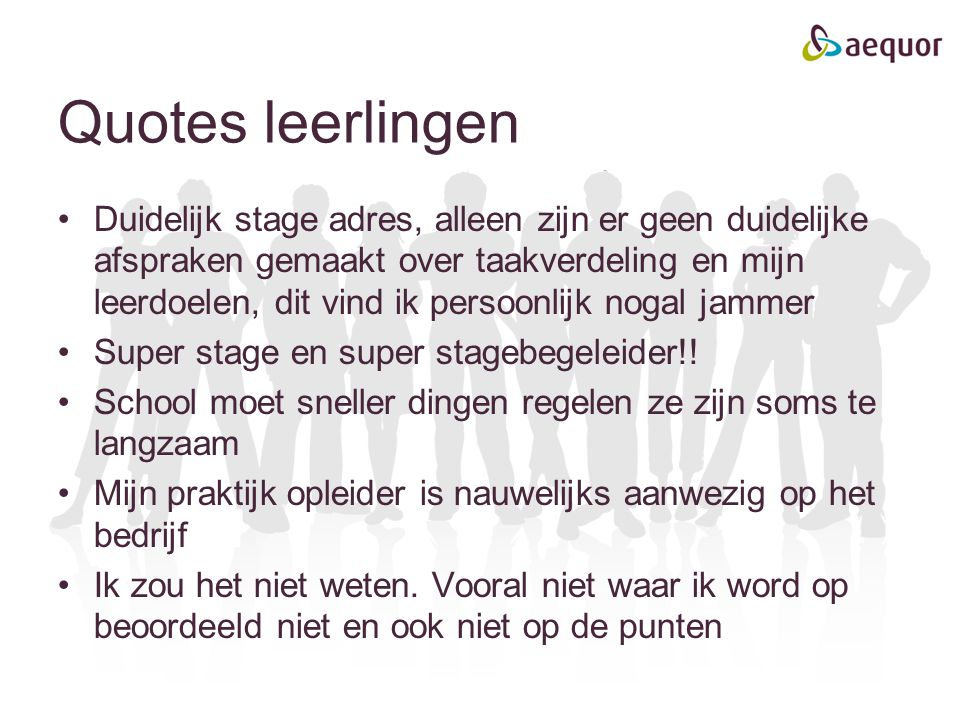 Quotes leerlingen